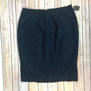 New Charcoal Gray straight Pencil Skirt Career